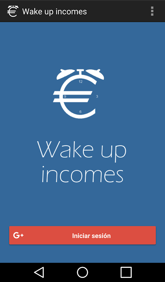 Wake up incomes: captura de pantalla