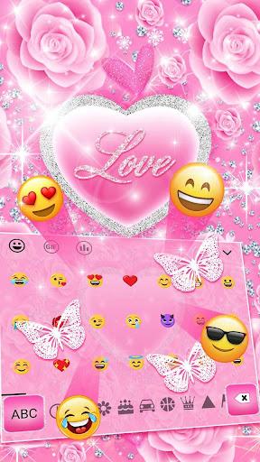 Pink Love Princes Keyboard Theme 10001002 screenshots 2