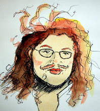 Photo: its beena strange day and one I'm glad is almost over. Quickly did a doodle of +Jamie Reynolds and her fiery hair as the latest Movember girl.