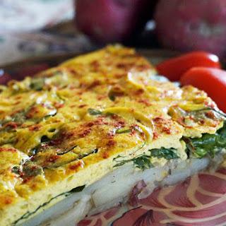 Vegan Potato and Spinach Frittata.