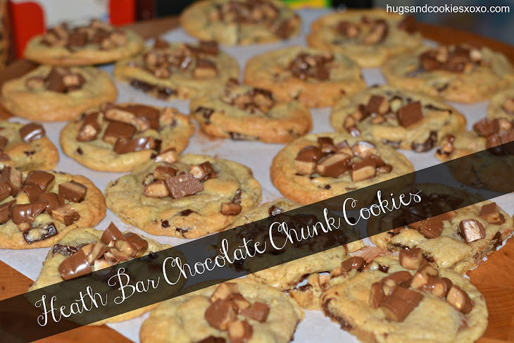 Heath Bar Chocolate Chunk Cookies Recipe