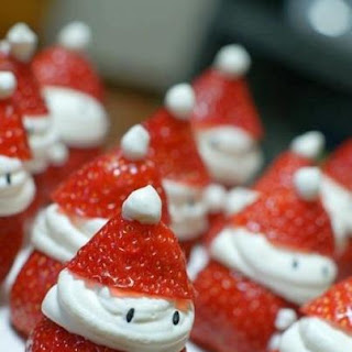 Strawberry Santas with Cream Cheese