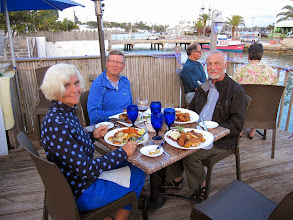 """Photo: Frode and Adrew took us out for an excellent meal at """"Wahoo's Bistro & Patio"""" in St George."""