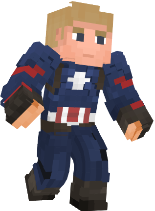 Captain America - No Helmet (Endgame) Minecraft Skin