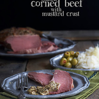 Baked Corned Beef with Sweet-Mustard Crust.