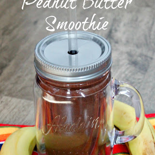 Banana Chocolate Peanut Butter Smoothie #KraftPeanutBetterIt