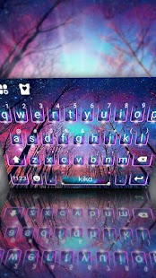 Galaxy Wallpaper Keyboard Theme - náhled