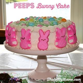 Peeps Bunny Cake