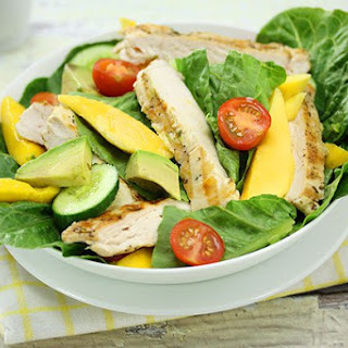 Warm Mango Chicken Salad