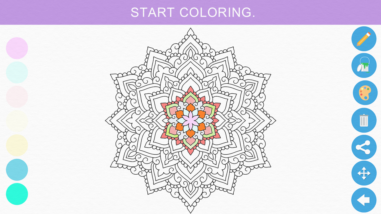 Zen: Coloring book for adults- screenshot