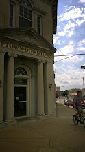Photo: August 7-This bank on the town square in Carthage reminded me of Gringotts.