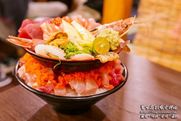 丸太屋台風浜燒場|有日本味氛圍的高CP值雙層大份量生魚片丼飯;食尚玩家、愛玩客、旅行應援團相繼推薦