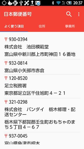 Zip Codes of Japan