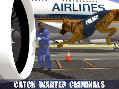 9 Police Dog Airport Crime Chase App screenshot