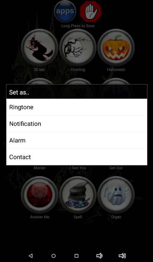 Scary SMS Ringtones- screenshot