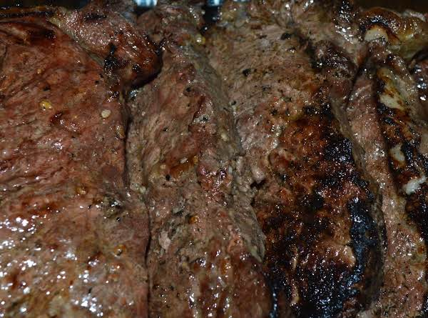 Garlic Grilled New York Strip Steak Recipe