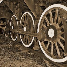 Train Wheels by Stephen Fouche - Transportation Trains