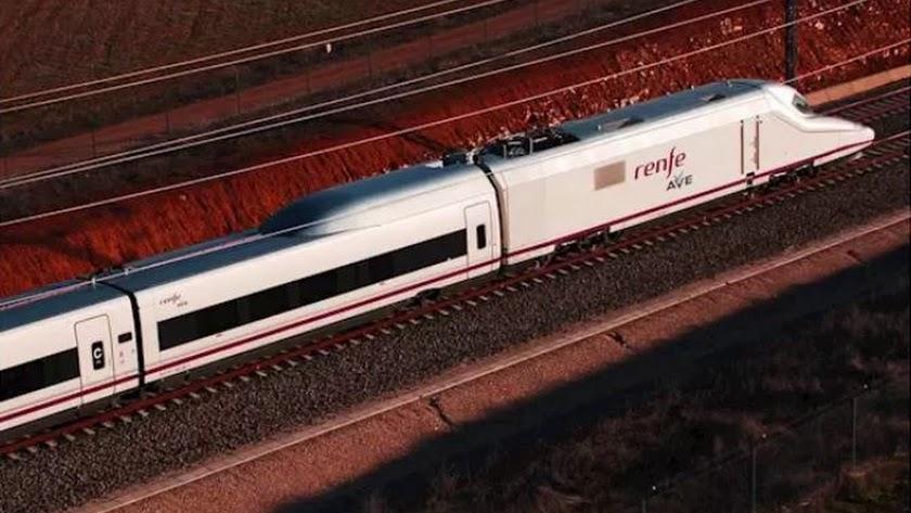 Imagen de archivo de un tren de Alta Velocidad AVE.