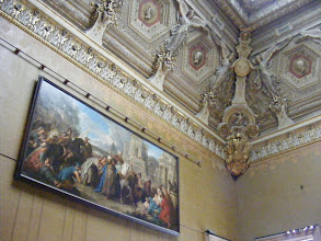 Photo: One of the very-high-ceilinged rooms, where the art is hung from low to high levels.