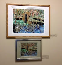 """Photo: """"Falling Water"""" Artwork by Les Sher Art exhibition at Weissman Center"""