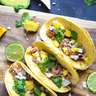 Slow Cooker Al Pastor Tacos.