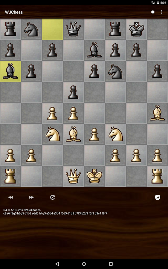 WJChess (chess game)- screenshot
