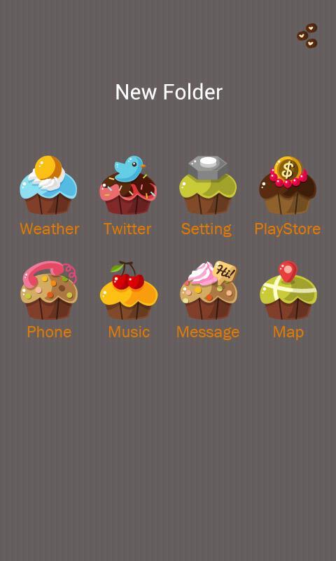 Скриншот Cupcakes GO Launcher Theme