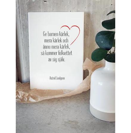 Trätavla - Ge barnen kärlek
