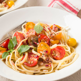 Pasta Fredda with Cherry Tomatoes, Anchovies and Herbs