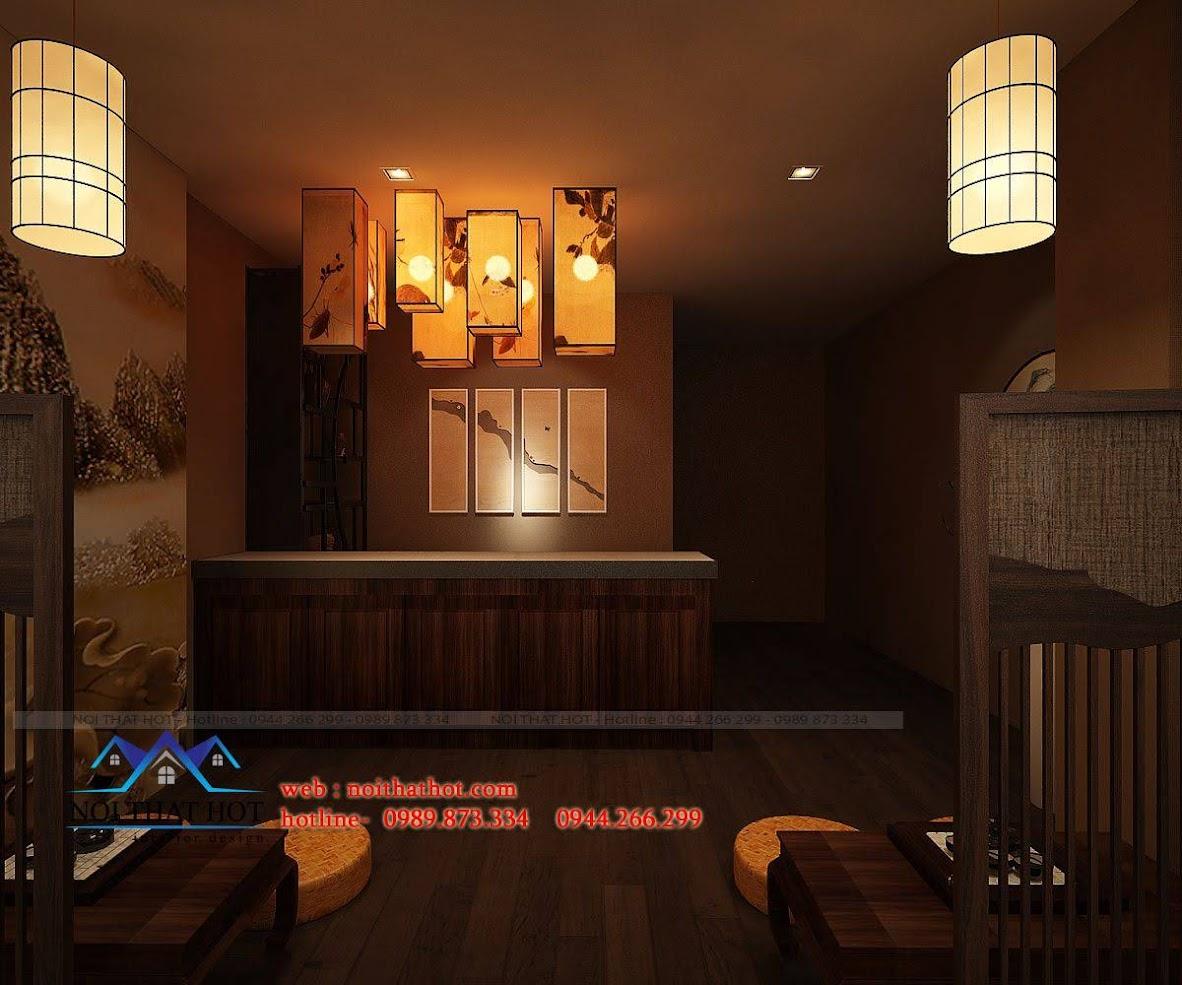 thiết kế quán trà đạo 8