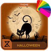 Happy Halloween Cat (Xperia Theme)