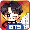 BTS Pixel Art - Paint by Number Coloring Books icon