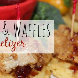 Chicken and Waffles — Easiest Appetizer Ever!.