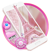 App Pink Shiny Eiffel Paris Launcher Theme Live HD 1.0 APK for iPhone
