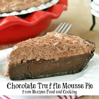 Chocolate Truffle Mousse Pie Recipe