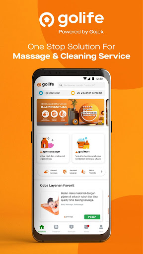 GoLife | Professional Massage & Cleaning Service screenshot 1