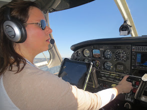 Photo: Susan, flyin' the hell outta that plane