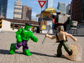Photo: Hulk and Haggar from Final Fight