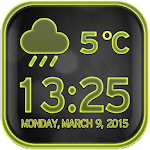 Neon Clock Weather Widget Icon