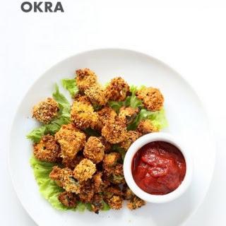 Baked Popcorn Okra