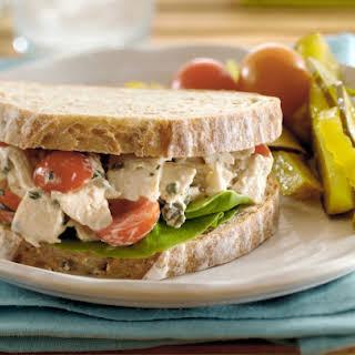 Chicken Salad and Grape Tomato Sandwiches.