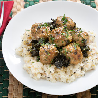 Chicken Meatballs with Braised Kale & Spiced Celeriac Mash