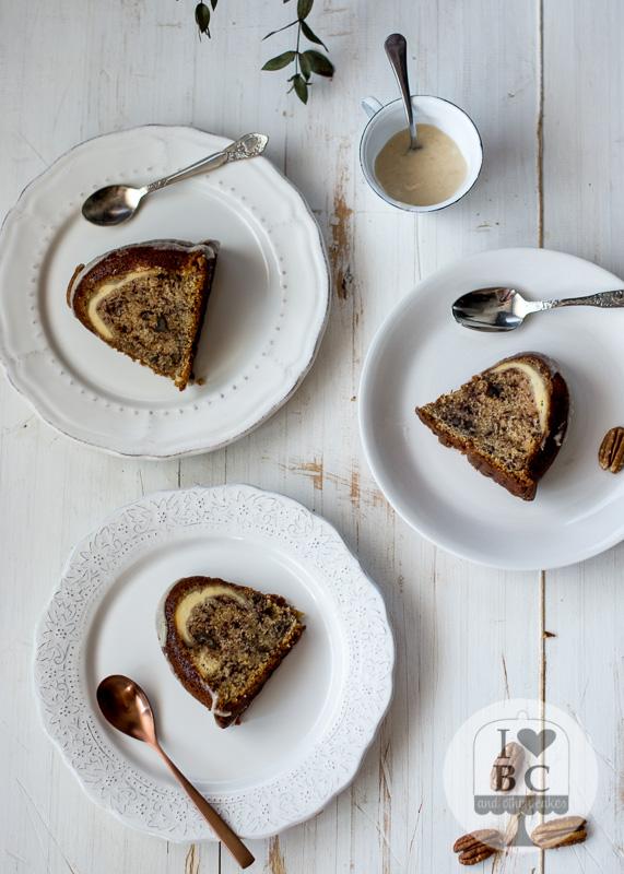 Tunnel of cream banana nut Bundt Cake