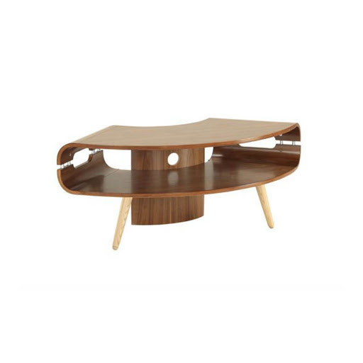 Jual Curve Walnut Jf01 Corner Tv Stand Big Savings On Jual Curve  # Meuble Tv Oval