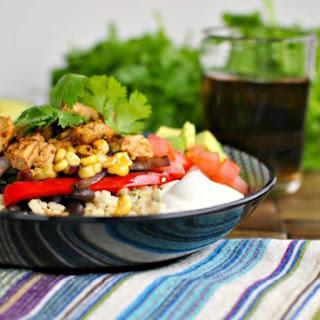 Chipotle Chicken Fajita Rice Bowls