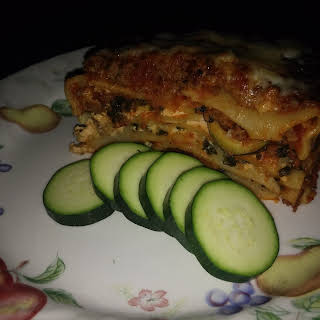 Lasagna with Meat Sauce & Vegetables.
