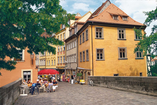 Viking-Freya-Bamberg-cobblestones - The historic city center of Bamberg, Germany, is listed as a UNESCO World Heritage site.