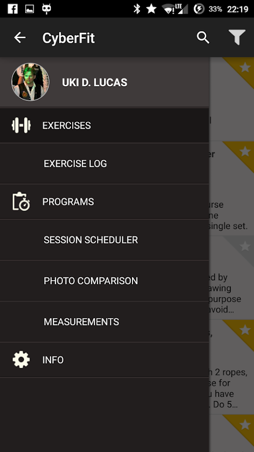 "Fitness Training ""WarriorFit""- screenshot"