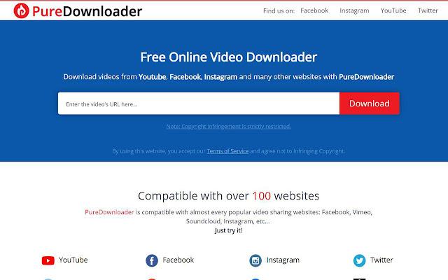 PureDownloader for Chrome