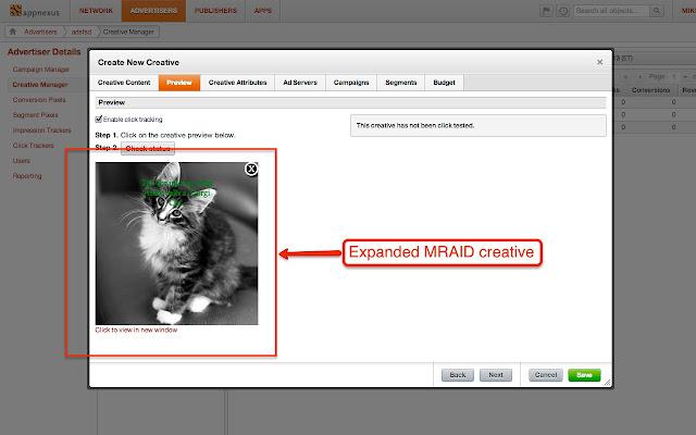 AppNexus MRAID Viewer